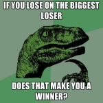 If you lose on the biggest loser, does that make you a winner?