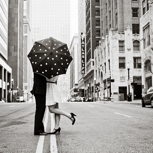 Umbrella Kiss by Crystal Franks